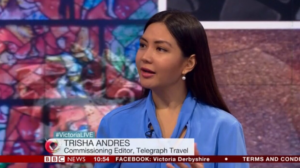 Trisha Andres with Victoria Derbyshire